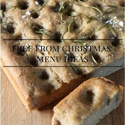 Christmas menu ideas for vegetarian, gluten free, dairy free, soya free, egg free kids and adults!