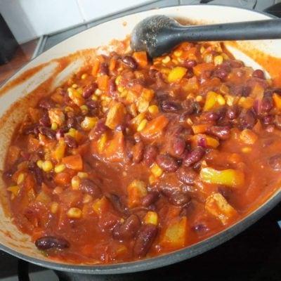Mild vegetable chilli
