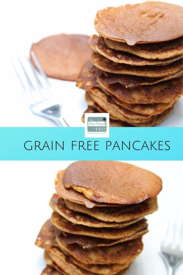 Grain free pancakes. Perfect for a gluten free breakfast. #GAPS #glutenfree #SCD #dairyfree #grainfreepancakes #glutenfreepancakes