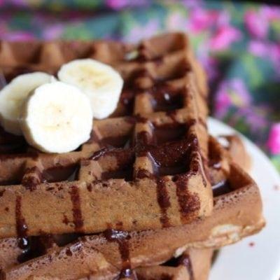 Gluten Free Waffles (Dairy-free, Sugar-free)