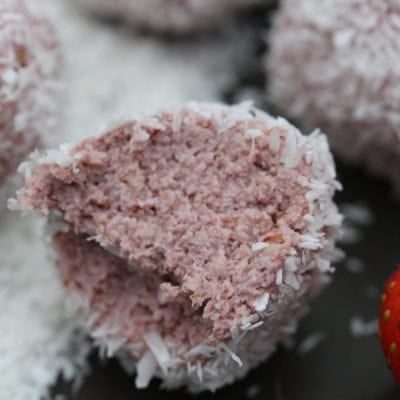 Healthy Fresh Strawberry Bliss Ball Recipe
