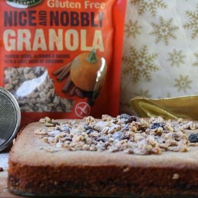 Mincemeat Granola Slice (Gluten-Free, Vegan) & A Giveaway