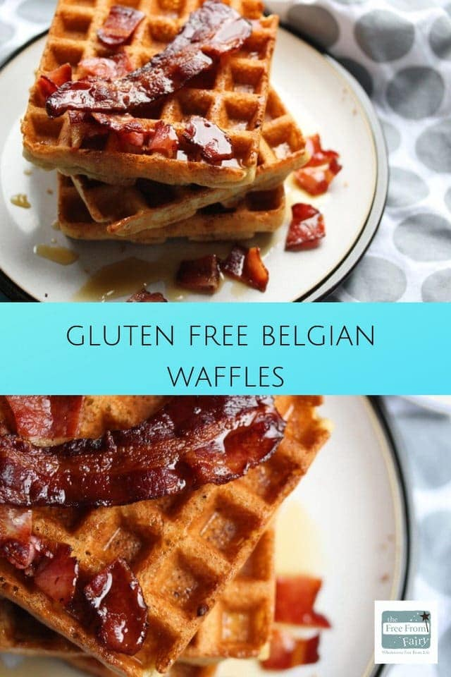 The best most luxurious gluten free Belgian waffle recipe you'll ever find. The perfect weekend luxury breakfast that can be served any way you like. The recipe also has dairy free options. #luxurywaffle #wafflerecipe #glutenfreebelgianwaffle #belgianwaffles #freefromfairy #fairyflour