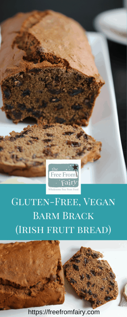 Make this gluten free fruit loaf (Barmbrack) recipe with this simple #glutenfree #dairyfree #eggfree recipe from the Free From Fairy. It uses her revolutionary wholegrain gluten-free flour blend.