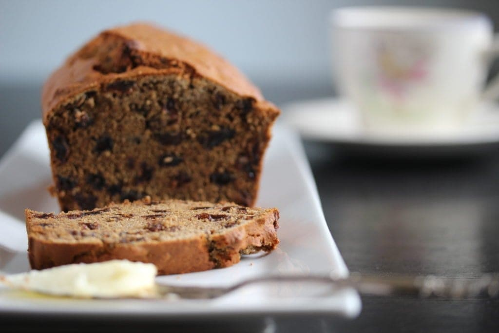 Make a simple gluten free fruit loaf that is #glutenfree #dairyfree and #eggfree in a matter of minutes. Suitable for #vegans too.