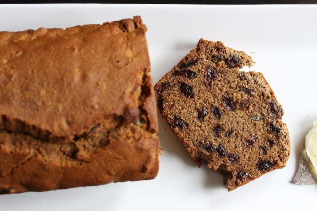 Traditional Irish gluten free fruit loaf (Barmbrack) recipe made #glutenfree #dairyfree and #eggfree for those with #allergies and #intolerances.